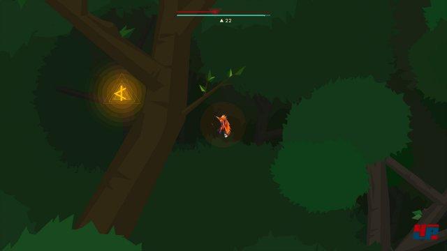 Die K-Rune kann man bereits kurz nach Erreichen des Deep-Forest-Levels über den Daw-Level einstreichen. Dazu muss man nach der Ankunft einfach möglichst tief nach rechts fliegen und bei einem Gefälle im Dickicht linker Hand eine versteckte Alkove ausfindig machen.