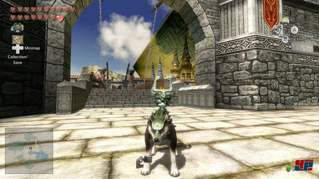 Wenn sich Link in einen Wolf verwandelt, reitet sein dämonischer Sidekick Midna auf ihm.