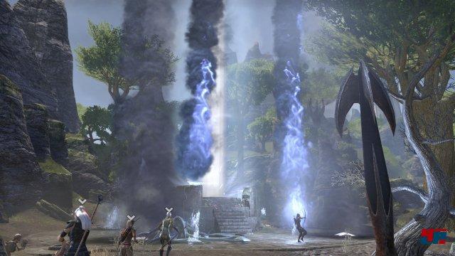 Die Kämpfe um die dunklen Anker bieten immer wieder ein spielenswertes Effekt-Spektakel.