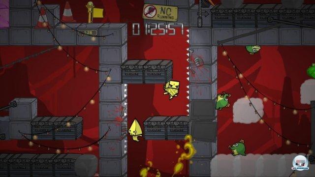 Vorsicht, explosiver Frosch: Die marschierenden Minen mit Stock und Hut lassen sich auch vom Spieler einsetzen.