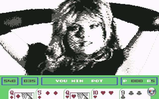 Genau wie im normalen Pornobereich gibt es auch bei Spielen so ziemlich alles, was physikalisch mit dem menschlichen Körper machbar ist - vom dezent verklemmten »Hihi, guck mal, ein Nippel!« bis zu Tentakeln in allen Körperöffnungen ist alles drin. Durchaus wörtlich zu nehmen. Eine der harmloseren Spielvarianten ist eine der populärsten: Das gute alte Strip Poker. Einer der ersten ernster zu nehmenden Anwärter auf den Nackedei-Thron war das 1986er »Samantha Fox Strip Poker«, welches das wohl berühmtestes Seite 3-Girl in all seiner verpixelten Schwarzweiß-Pracht präsentierte. Die Bilder wurden im Laufe der Jahre schärfer und farbiger, das Spiel blieb dasselbe. 1976893