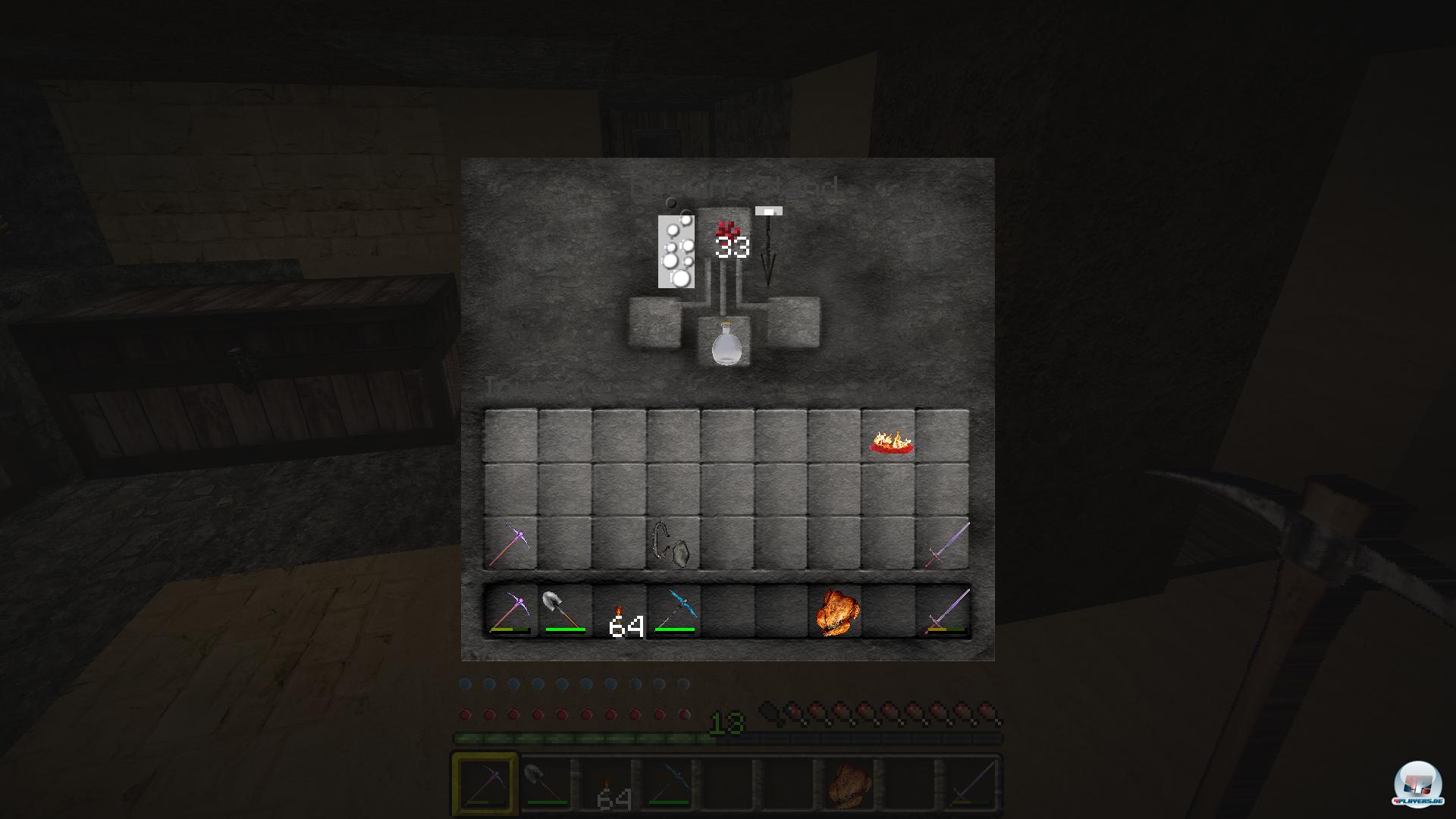 Ein wenig Nether-Warze (mhhh!), etwas Flammenstaub - fertig ist der Spinat des Minecrafters!