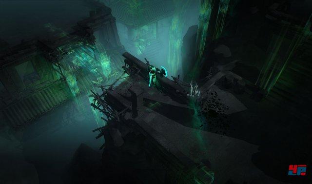 Mitunter muss man in die Schattenwelt wechseln, um einen neuen Weg durch die teils mit Fallen gespickten Gewölbe zu finden.