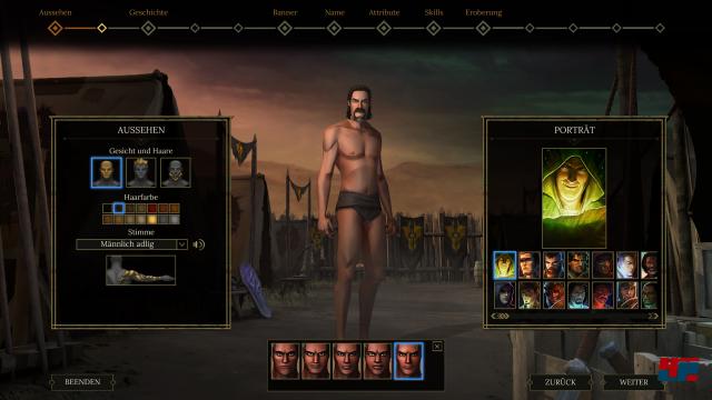 In der Charaktererschaffung kann man zwischen Mann und Frau, divsersen Gesichtern und Körpern sowie Klassen wählen.