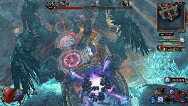 Alle Gegner versuchen dieses Portal zu erreichen. Kommen 20 Feinde durch, ist die Partie verloren.