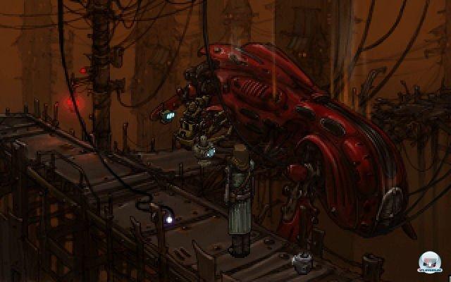 In der Roboterstadt Metropol treffen die beiden auf ganz unterschiedliche Artgenossen.