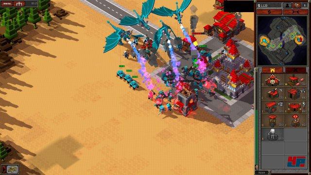 MG-Jeeps und Drachen? 8-Bit Hordes und 8-Bit Armies sind verbunden. Spielt man z.B. eine Karte aus 8-Bit Armies mit einer Fraktion aus 8-Bit Hordes, so erhält man in Kisten auch futuristische Einheiten.