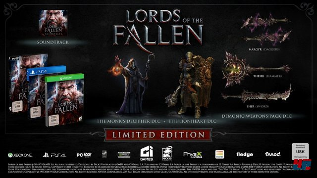 Inhalte der Limited Edition von Lords of the Fallen