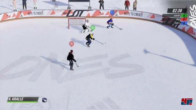 Neu ist der Arcade-Modus 1v1v1, bei dem alle drei Spieler um Tore kämpfen.
