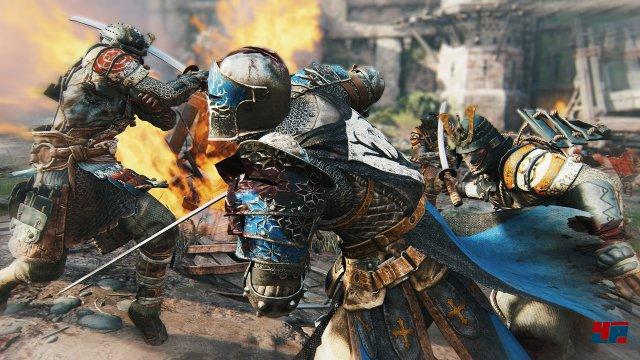 Obwohl sich acht Spieler und zahlreiche KI-Soldaten ins Getümmel stürzen, steht das Duell Mann gegen Mann zumindest auf der E3 im Vordergrund.