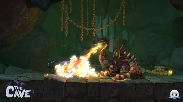 Wie komme ich an diesem Drachen vorbei, ohne als Ritter Kebab zu enden? Man muss alle Fähigkeiten seines Dreier-Teams nutzen, um weiter zu kommen.