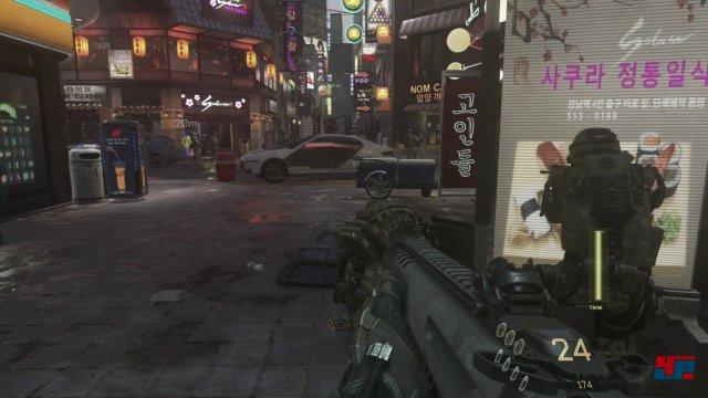 Oppan Gangnam-Style: Im ersten Abschnitt ballert man sich unter anderem durch das Vergnügungsviertel von Seoul.