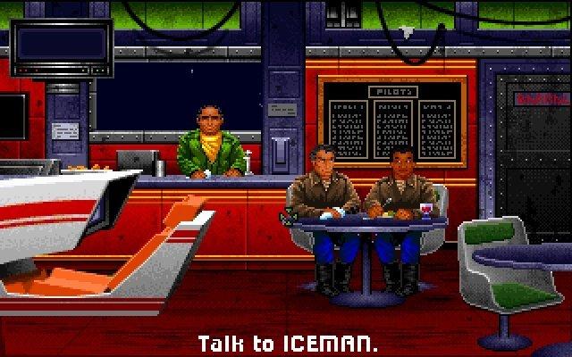 Zwischen den Einsätzen durfte man in der Bar mit den Piloten-Kollegen plaudern oder am Spielautomaten Probe-Einsätze fliegen.