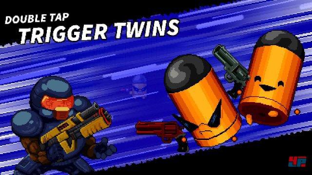 Die Trigger Twins gehören genauso wie Gatling Gull zu den Bossen, die einem auf der ersten Ebene begegnen können.