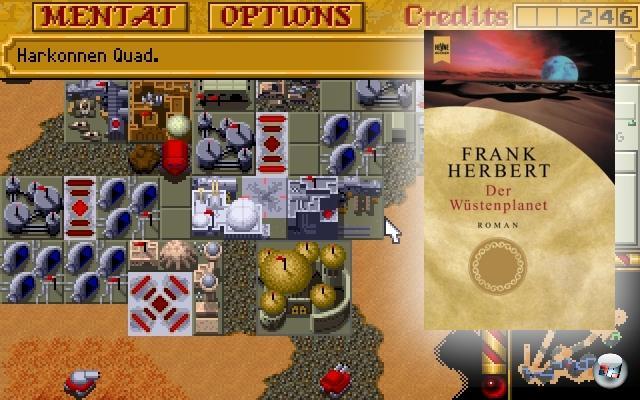 <br><br><b>Dune</b> (Frank Herbert, 1965)<br><br>Frank Herberts sandige Saga hat einige verspielte Adaptionen hervorgebracht, von denen Westwoods Echtzeitstrategie-Klassiker �Dune 2� wohl die bekannteste ist - bot sie doch nicht nur eine interessante Sichtweise auf die Vorlage (da das Spiel auf dem 1984er Film von David Lynch basiert), sondern ebnete gleich mal einem ganzen Genre den Weg. Das Original-Spiel Dune von Cryo Interactive kann dagegen locker unter den Tisch fallen gelassen werden, war es doch ein sandtrockenes Adventure - typisch f�r Cryo. 2056793