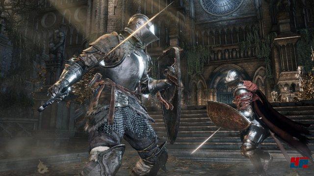 Der Ritter kann taktisch clever kämpfen.