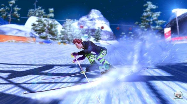 Bei Ski-Abfahrten ist nicht nur Tempo wichtig. Auch Hindernisse m�ssen passiert werden.
