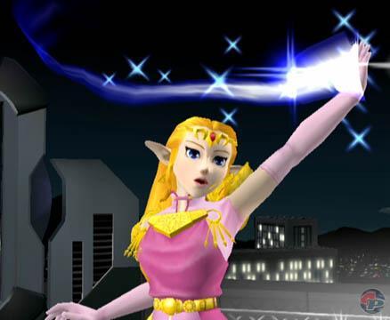 Mit Magie kann Zelda verschiedene Attacken verstärken.