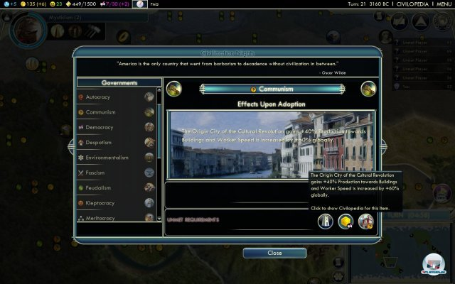 Screenshot - Civilization V: NiGHTS (PC)