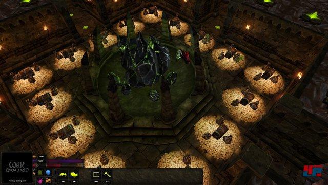 Klassisch: Das Dungeon-Herz muss um jeden Preis gegen Helden und konkurrierende Underlords verteidigt werden.