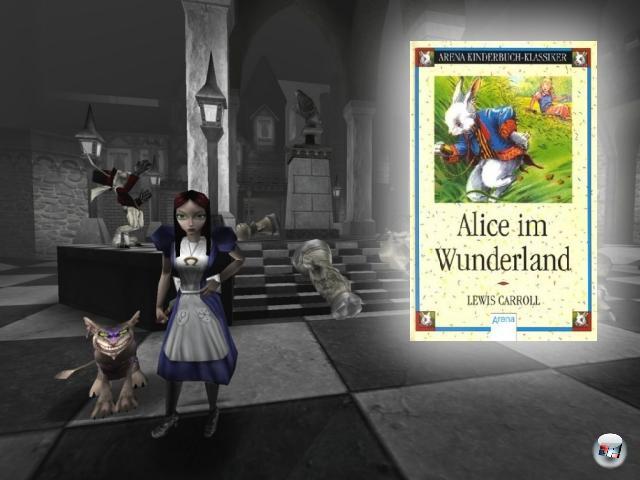 <br><br><b>Alice im Wunderland</b> (Lewis Carroll, 1865)<br><br>Das Buch von Lewis Carroll ist schon sehr, <i>sehr</i> surreal - was Kreativkopf American McGee dann aber noch daraus gemacht hat, war schon fast ein spielbarer Drogentrip! Das Ganze spielte sich im Kopf der verr�ckt werdenden Alice ab, was dann, von der Quake 3-Engine befeuert, f�r h�chst innovatives und abgefahrenes Level- und Figurendesign sorgte. Zwar war das von der Kritik hochgelobte Spiel kommerziell wie so oft in solchen F�llen ein Flop, aber dennoch arbeitet McGee gerade an einem zweiten Teil. 2056798