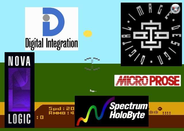 In erwähnter Dekade war die Flugsimulation derart populär, dass so manche Entwicklerfirma gar nichts anderes mehr gemacht hat, als eine Simulation nach der anderen - Namen wie Spectrum Holobyte, Microprose, Digital Integration, NovaLogic oder Digital Image Design haben unter Simulationsfans nach wie vor einen guten Klang. Legendär auch die Geschichte zur Entstehung von Microprose: Angeblich war ein junger Mann namens Sid Meier von der durchschaubaren Einfachheit des Red Baron-Spielautomaten derart gelangweilt, dass er mit einem Freund, einem Army-Piloten namens »Wild« Bill Stealey, wettete, dass er innerhalb kürzester Zeit etwas Besseres auf die Beine stellen könnte. Bill hielt die Wette, indem er versprach, wenn Sid das hinbekäme, dann würde er dafür sorgen, dass das Ergebnis in Kürze in den Läden stünde. Sid gewann die Wette, das 1982er »Spitfire Ace« legte den Grundstein für Microprose Software. 2097763