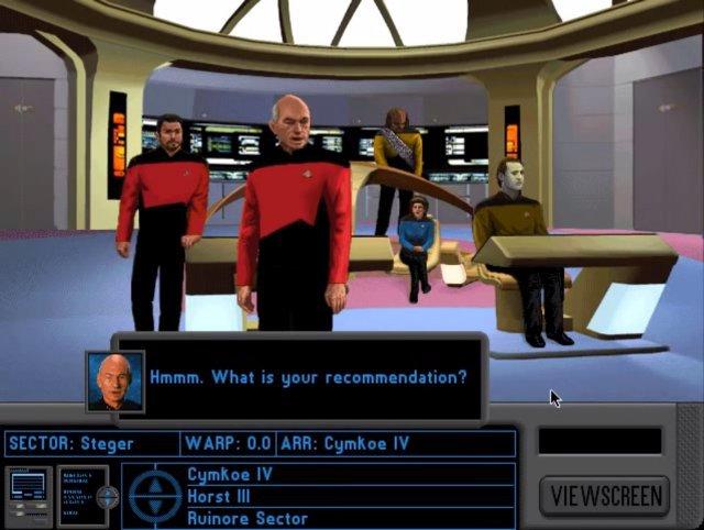 Das Adventure A Final Unity gehört zu den besten der Star-Trek-Spiele. U.a. stellte man die Crews für Außenmissionen selbst zusammen.