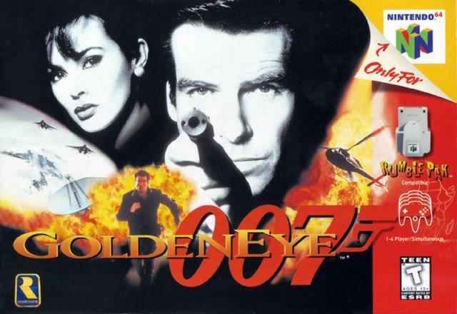 GoldenEye 007 - 1997 - N64<br><br>Der Sonderling, die Extrawurst, das Phänomen - die Filmumsetzung, die tatsächlich Klasse hat! Denn als Rare noch nicht nach Microsofts Pfeife fuchtelte, bauten die Briten einen Ego-Shooter, der dem PC-Genre die Türen in die Konsolenwelt öffnete. Medal of Honor und Halo? Populäre Nachahmer, mehr nicht! Nintendos Analogstick machte es möglich, dass man nicht nur dank Gadgets und Stealth-Elementen wie ein echter Agent agieren durfte. Nicht zuletzt durften vier Spieler sogar gegeneinander antreten - GoldenEye ist ein Lesezeichen in den Annalen! 2173948
