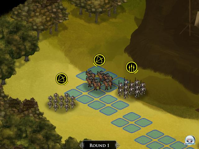 Man hat nur eine bestimmte Anzahl an Befehlspunkten, um seine Truppen zu bewegen.