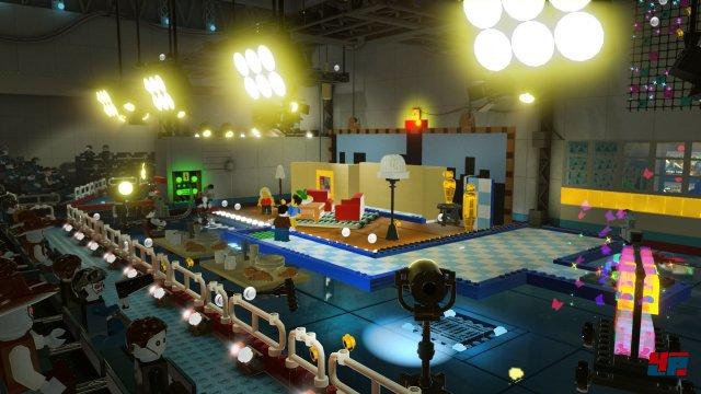 Der Star ist das Artdesign: Die Abschnitte werden ausnahmslos aus Lego-Steinen aufgebaut.