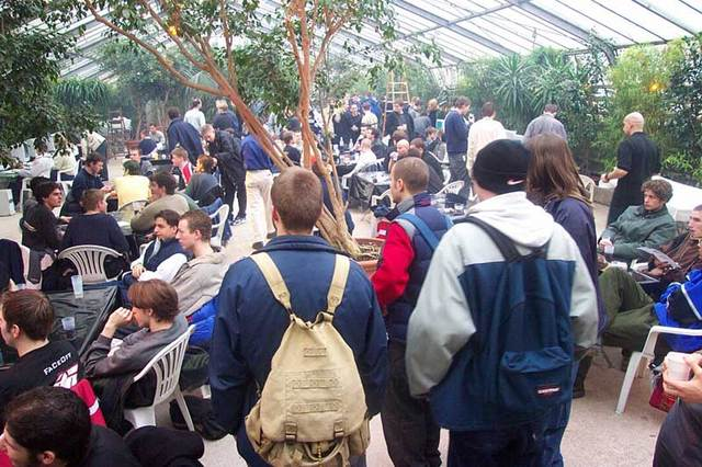 Viele Besucher im Botanikum in München 5423