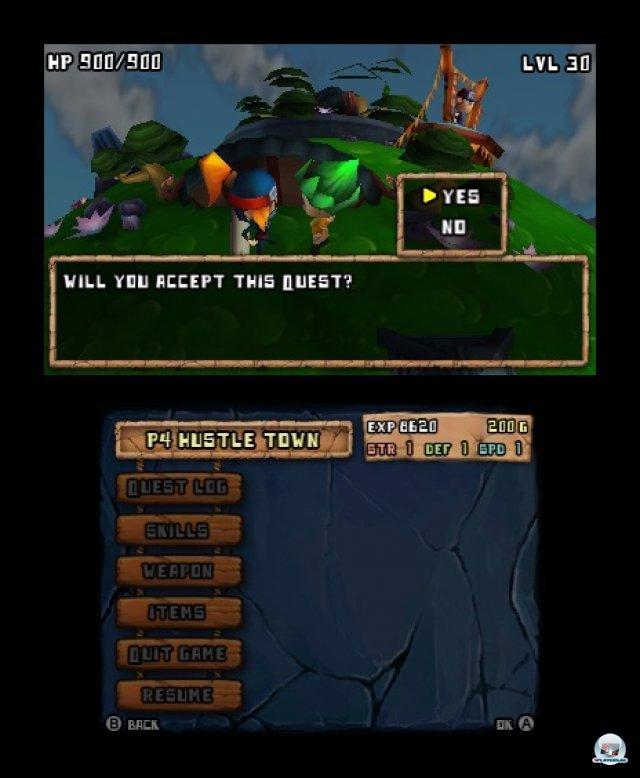 Quests gibt's von der Bev�lkerung oder am Schwarzen Brett.