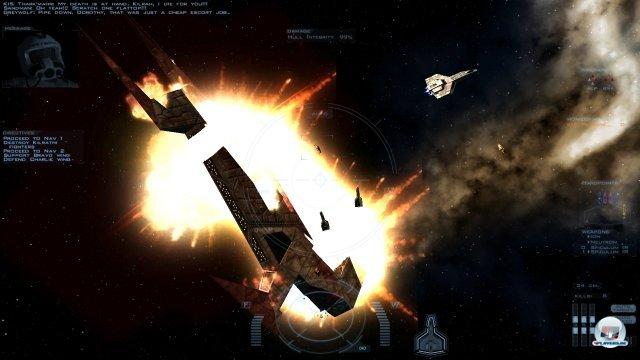 Für den Raumjäger gibt es kaum ein befriedigerendes Gefühl, als nach langer, harter Schlacht endlich das Großkampfschiff bersten zu sehen.