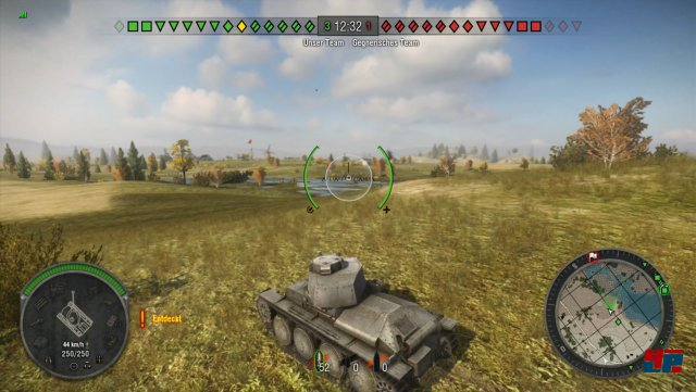 Die Kulisse ist durchschnittlich und kann nicht mit der PC-Version oder War Thunder mithalten.