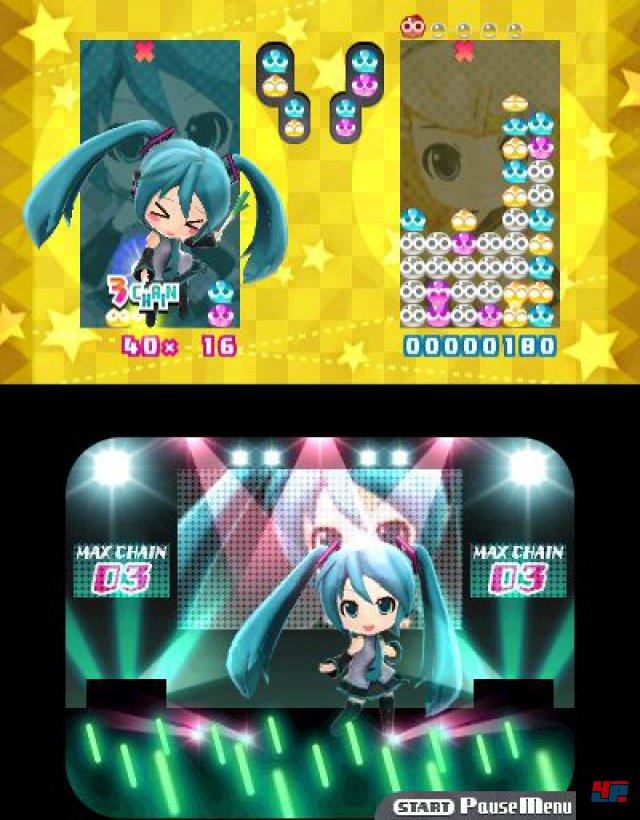 Man kann zum Zeitvertreib auch eine Puyo-Pop-Variante spielen.