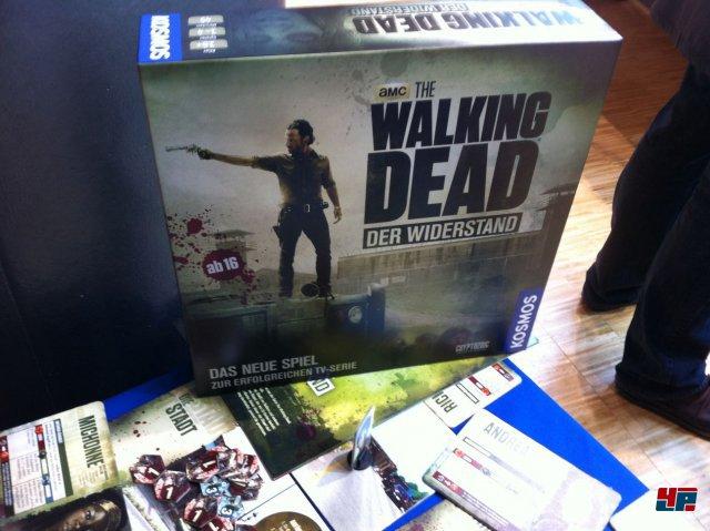 Auch aktuelle Lizenzen werden in Brettspiele umgewandelt: Hier The Walking Dead auf der Neueheitenshow.