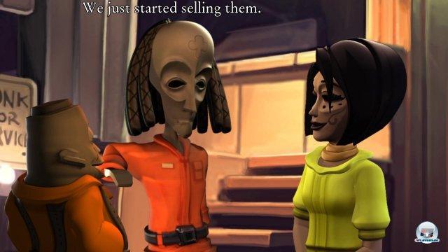 Lasst euch nicht täuschen: Auf den ersten Blick wirkt der Maskenstil unheimlich, doch Bwana und Kito sind zwei absolut liebenswerte Chaoten.