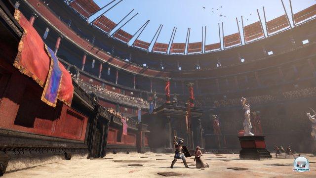 Die Arena des Kolosseums verändert sich dynamisch.