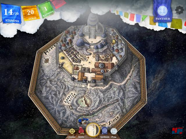 Wenn man die Karte herauszoomt, erkennt man die Zitadelle des Erzmagiers aus der Vogelperspektive.