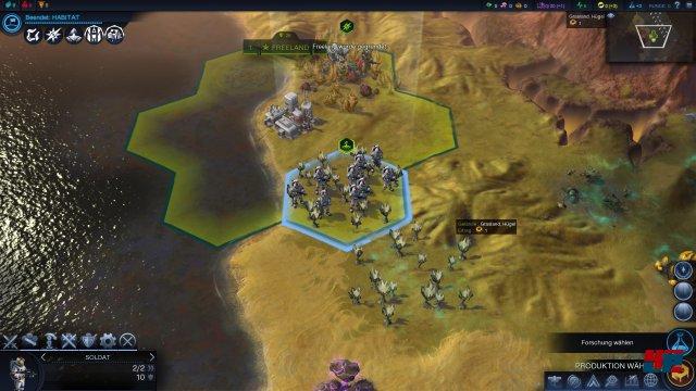 Alles fängt ganz bescheiden mit einer Siedlung auf einem fremden Planeten an.