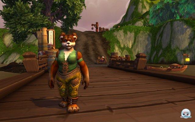 Die Pandaren (hier weibliche Form) tauchen in Azeroth auf.
