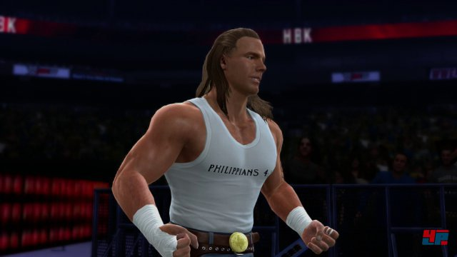 In Ansätzen ist Shawn Michaels erkennbar, dennoch braucht man viel Fantasie, um den WWE-Hall-of-Famer zu identifizieren.