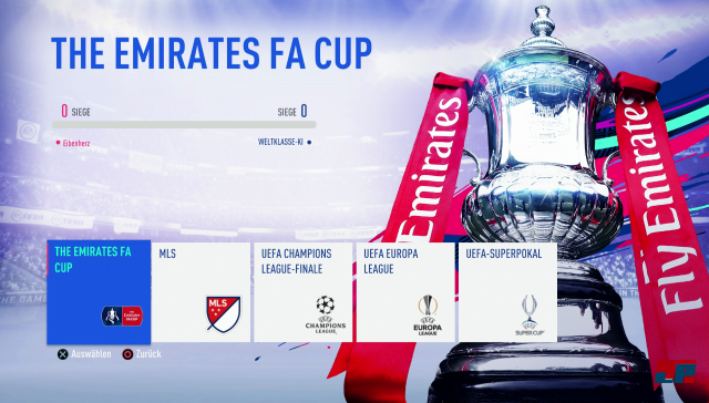 Neben der neuen Champions und Europa League könnt ihr auch verschiedene Cups austragen.