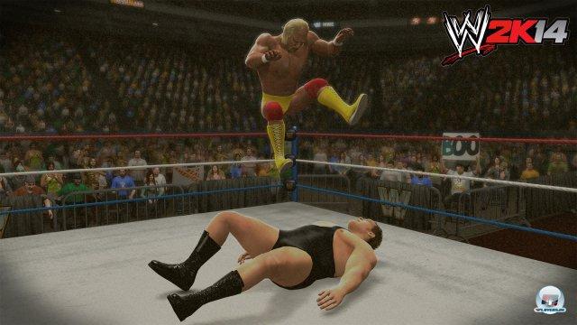 Geschichte zum Mitspielen: Hulk Hogan kämpft gegen André the Giant.