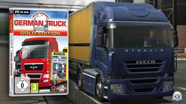 <b>Platz 7: German Truck Simulator: 135.000 Einheiten Publisher: Rondomedia</b> <br><br>  Wie bereits erwähnt, versteht sich der tschechische Entwickler SCS auf Lastwagen-Simulationen und so war absehbar, dass nach dem erfolgreichen Euro Truck Simulator und dem naturgemäß eher in England beachteten UK Truck Simulator eine deutsche Version folgen musste. Wenngleich die Städte nur über wenige Straßen verfügten und es nur eine Lizenz ins Spiel geschafft hatte (Iveco) , gehört diese noch zu den besten  getesteten Berufssimulationen in dieser Liste. Die 135.000 Käufer haben ein solides, absolut befriedigendes Spiel erworben, was man den Käfern der folgenden letzten beiden Titel nun wirklich nicht attestieren kann.<br><br> 4P-Wertung:65% 2243673