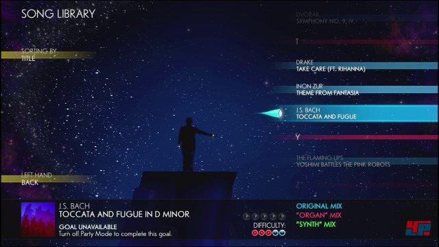 Die Songauswahl bietet �ber 30 Tracks von Klassik bis Gaga und Avicii.