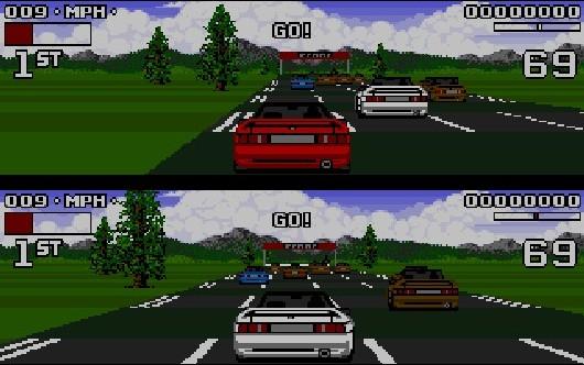 Unseren Michael bringt ja nichts so leicht aus der Ruhe. Aber auf Lotus Turbo Challenge 2 angesprochen umgibt ihn auf einmal eine Aura der Freude, seinen Lippen entfleuchen Worte wie »Oh ja, war geiiiil!« - das passiert nicht jeden Tag! Allein die »Da-Da-Da-Da-dada-Tschaka-Tschaaaaaa!«-Titelmusik sorgt noch heute für Tränen in den Augen von Amiga-Freunden - zu schade, dass es innerhalb des Spiels nur Effekte gab. Aber hey: Coole Arcade-Fahrphysik, viele verschiedene, thematisch höchst abwechslungsreiche Strecken, tolle Grafik und Splitscreen-Modus - mehr brauchte man damals nicht, um sich unzählige Nächte um die Ohren zu schlagen! Augenringe? Ah ja, klar - Lotus-Fan! 1711275