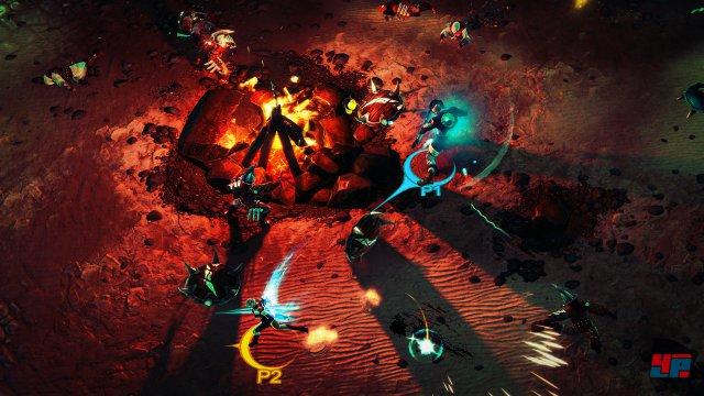 Man kann offline zu zweit und online mit bis zu vier Spielern auf Monsterjagd gehen.