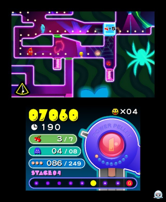 Screenshot - Pac-Man & Galaga Dimensions (3DS) 2257377