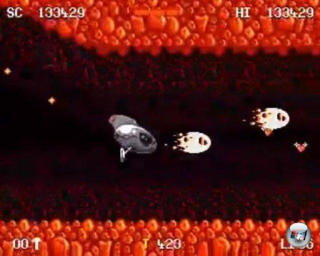 In einem der Bonus-Level tauschte man den Ninja-Anzug gegen ein Raumschiff.